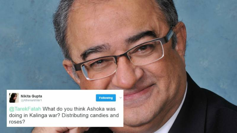 Tarek Fatah gets totally destroyed by history lesson on Twitter