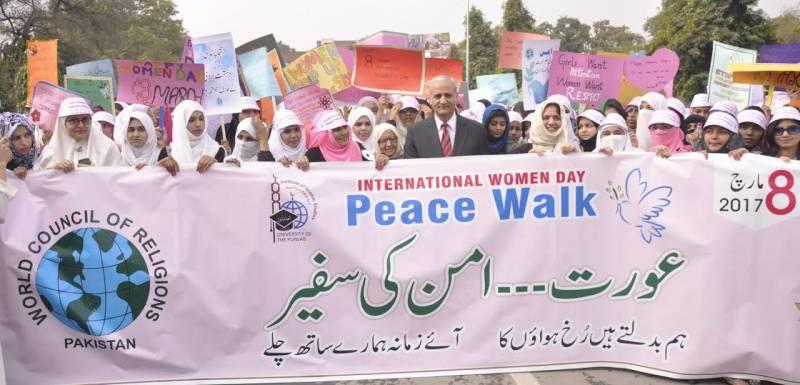 WCR holds peace walk on International Women's Day