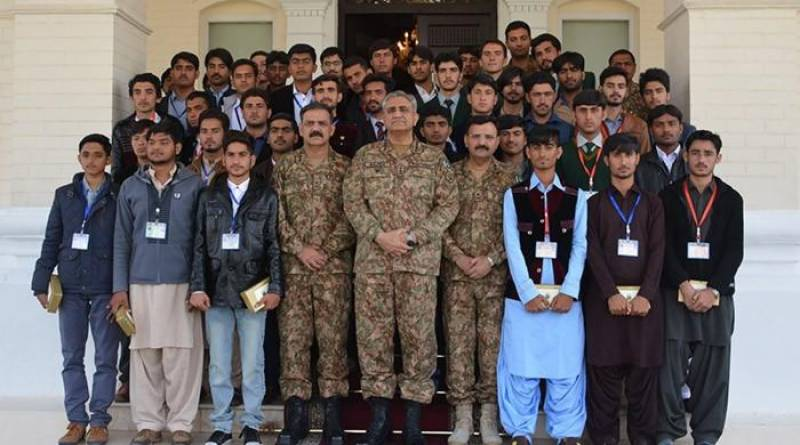40 college students from remote areas call on Army Chief Bajwa