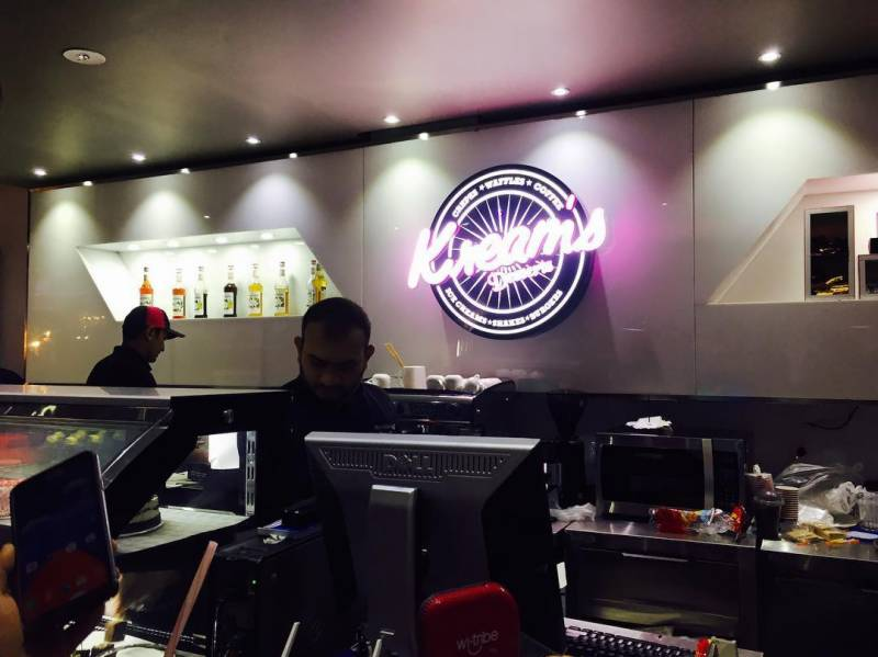 Experience American style dining at 'Kreams Café'