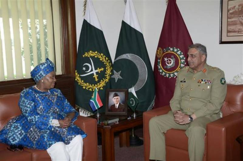 COAS, South African defence minister exchange views on security