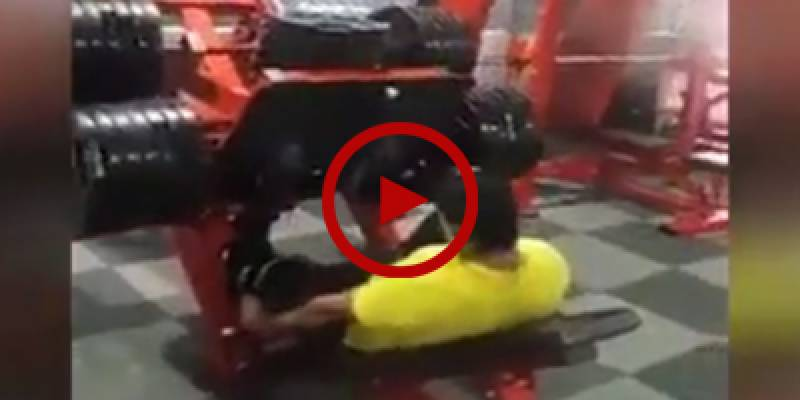 GRAPHIC: Man breaks his leg after lifting massive weight in gym