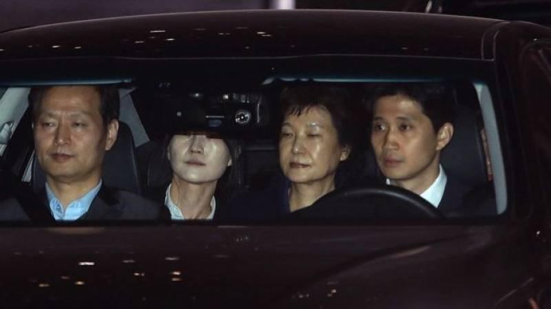 Corruption scandal: Ex-South Korean president detained