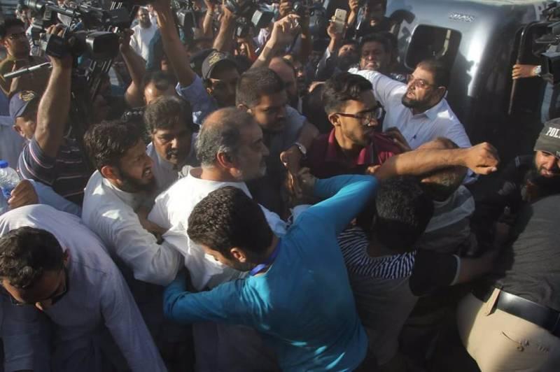 JI, police lock horns after detention of Karachi Ameer Hafiz Naeem
