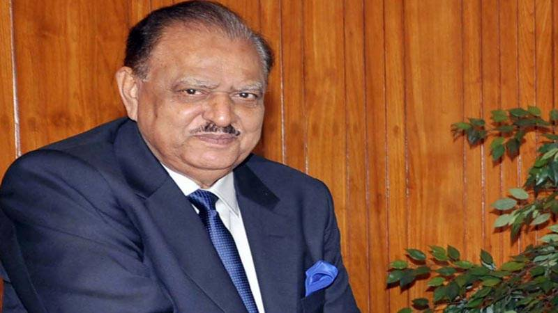 President Mamnoon signs bill to revive military courts for two years