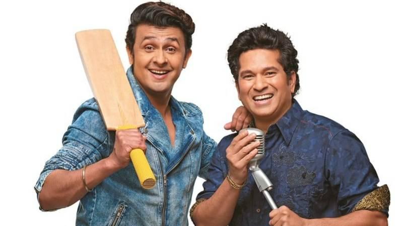 Cricket Star Sachin Tendulkar steps into the field of singing