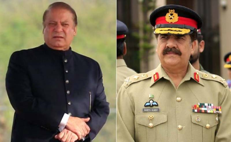 PM Nawaz bars party members from passing controversial comments about Raheel Sharif
