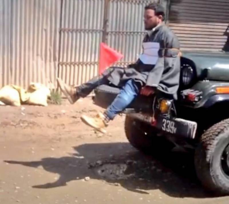 J&K police file FIR against army for tying Kashmiri youth to jeep as human shield