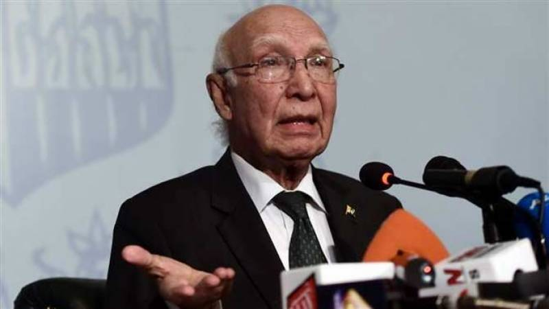 Violation of borders by any neighbour will not be tolerated: Sartaj Aziz