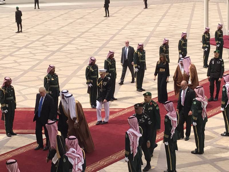 Trump reaches Saudi Arabia for first overseas visit