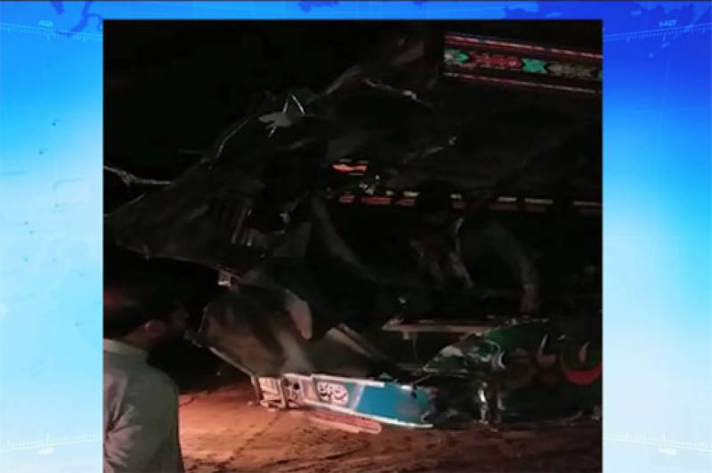 Bus-truck collision leaves 6 dead, 18 injured in Khanewal