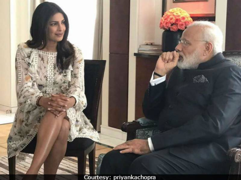 Priyanka Chopra criticized for 'exposing legs' to PM Modi, Priyanka replies by showing more leg