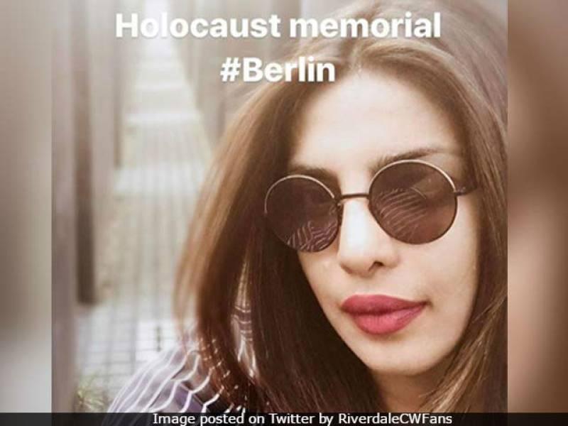 Priyanka Chopra deletes her selfies taken at Holocaust Memorial after criticism