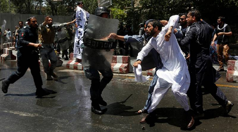 Several protesters reportedly killed in clashes with riot police in Kabul