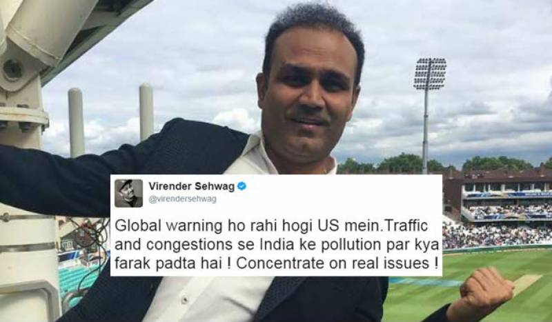 Virender Sehwag says global warming is not a 'real issue', gets trolled on Twitter