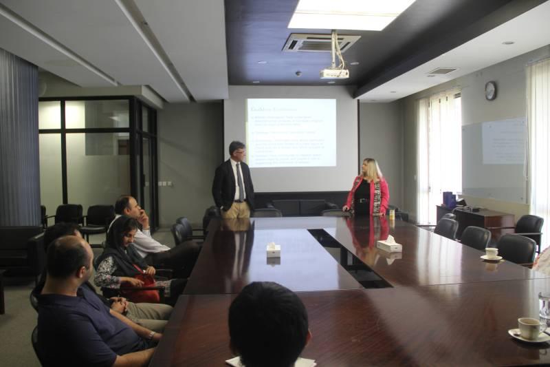 Dr. Beverly D. Metcalfe visits SDSB, LUMS
