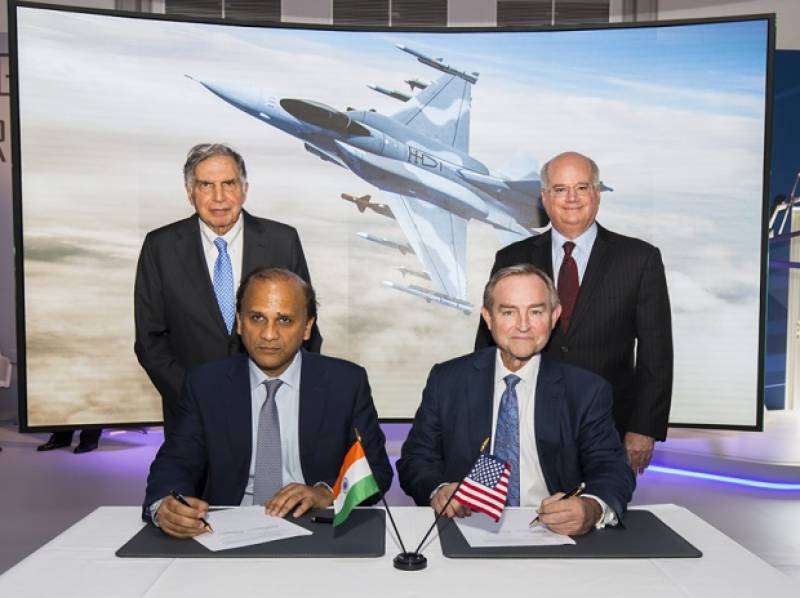 Lockheed Martin signs pact with Tata to make F-16 planes in India