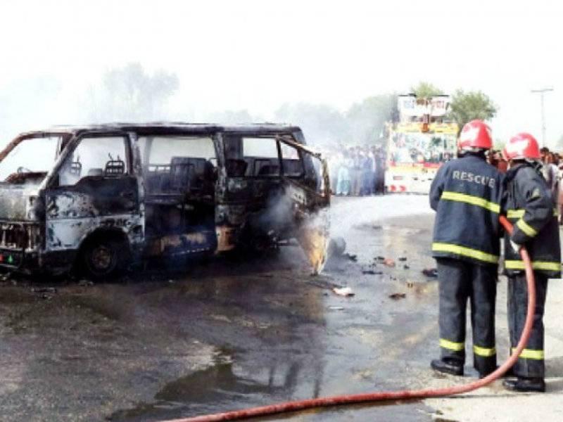 Multan: At least six burnt alive in van cylinder blast