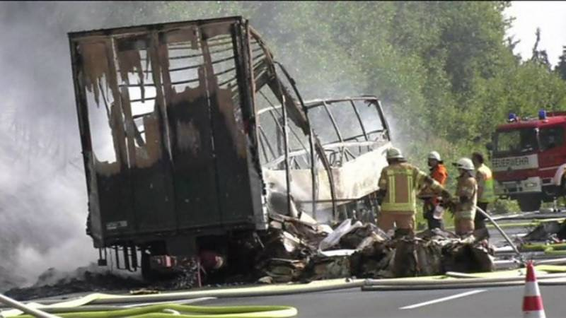18 tourists dead, 30 injured in Germany bus inferno