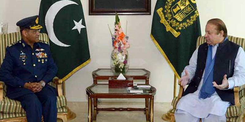 Air Chief Sohail meets PM Nawaz, discusses security situation