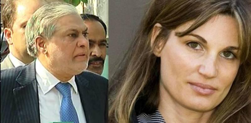 Ishaq Dar slammed over sexist remarks on Jemima Khan