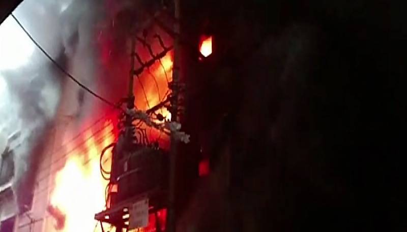 Plastic factory goes up in flames in Karachi, no casualties reported