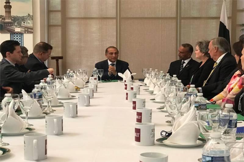 US Pakistan Business Council delegation meets Aizaz Chaudhry