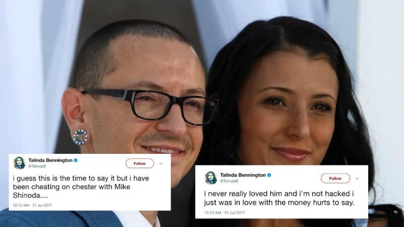 Hacked account of Chester Bennington's widow posts distasteful Tweets