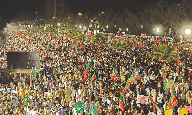 Thanksgiving day: PTI draws huge crowd after Nawaz Sharif's ouster