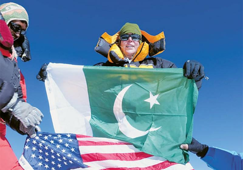 First British-American woman, 52, scales Pakistan's highest peak