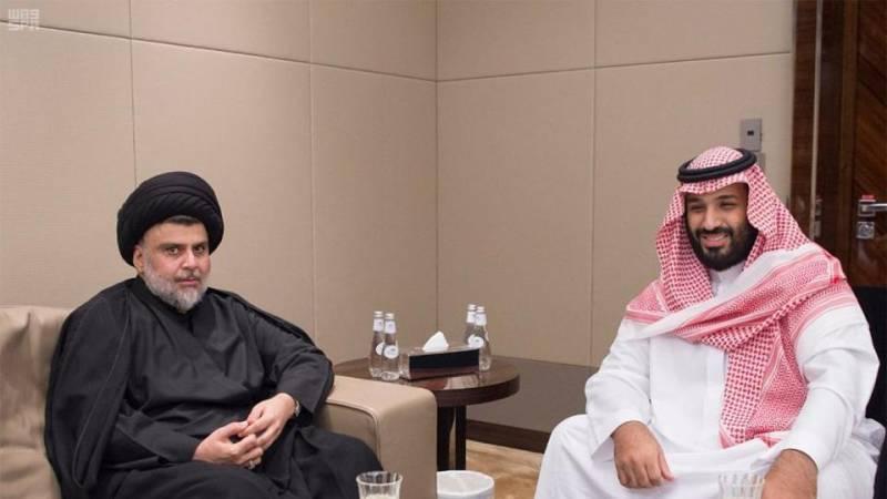 Iraqi Shia cleric Moqtada al-Sadr meets crown princeon rare visit to Saudi Arabia