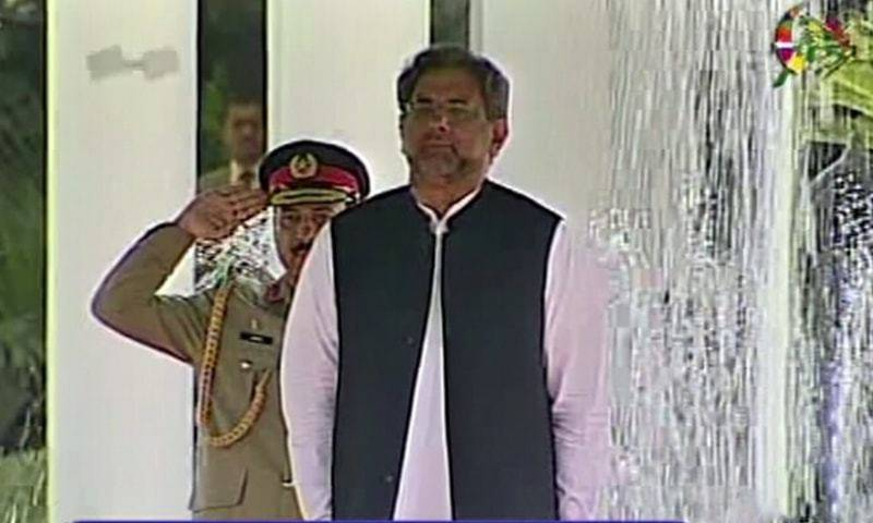PM Abbasi witnesses guard of honour at Prime Minister House