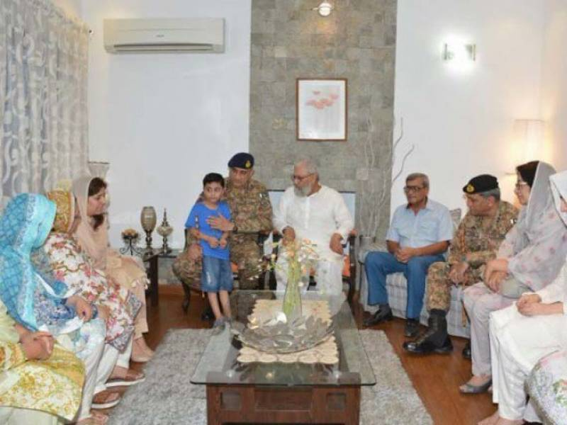 Gen Bajwa visits family of shaheed Major Ali Salman