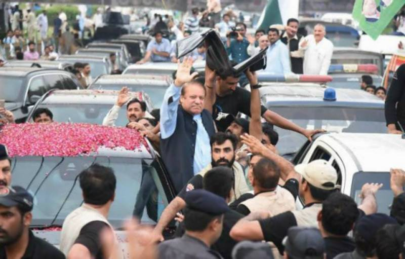 Gujrat: Man, 55, dies after being hit by a bike-rider rallying for Nawaz Sharif