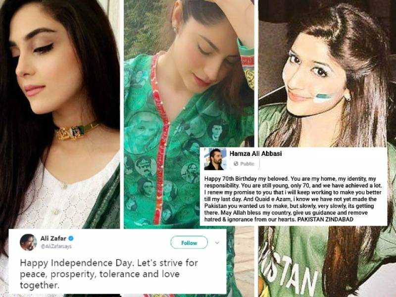 This is how stars are sending Independence Day wishes as Pakistan turns 70