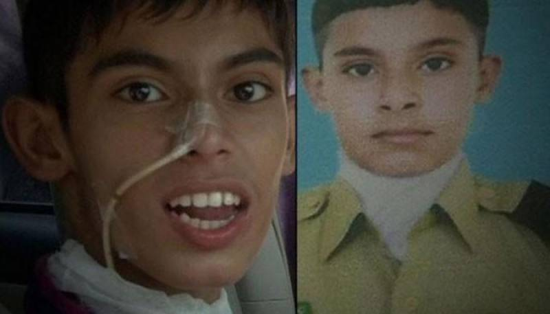 Tortured student of cadet college returns home after successful treatment in US