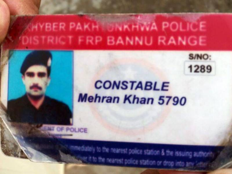 Unknown assailants martyr police constable in Bannu