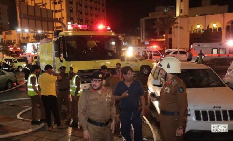 600 people evacuated after fire breaks out at hotel in Makkah