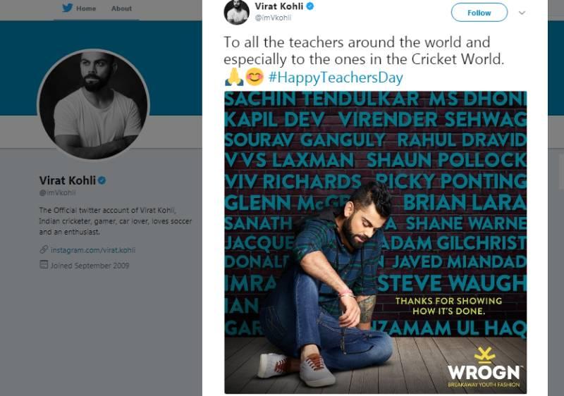 Imran Khan, Javed Miandad, Inzamam-ul-Haq's names featured in Virat Kohli's latest tweet, & we are IN LOVE!