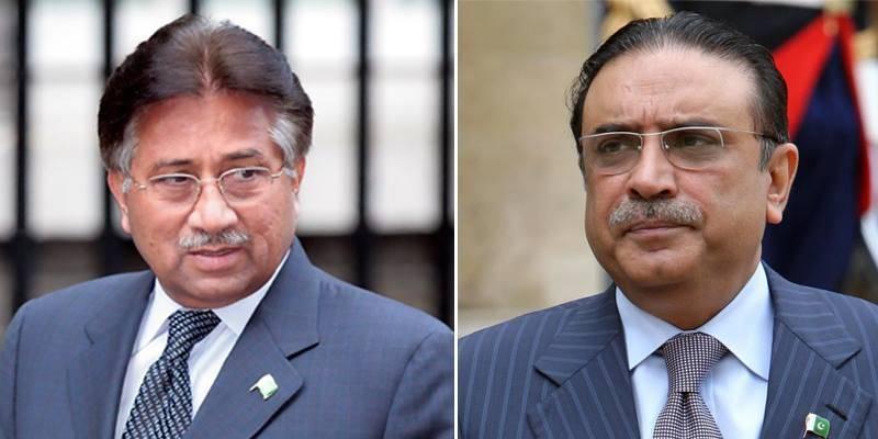 Musharraf accuses Asif Zardari of murdering Benazir, Murtaza Bhutto