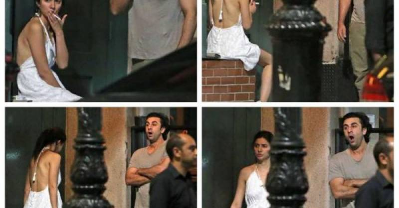 Mahira Khan, Ranbir Kapoor spotted SMOKING together outside New York hotel (see pics)