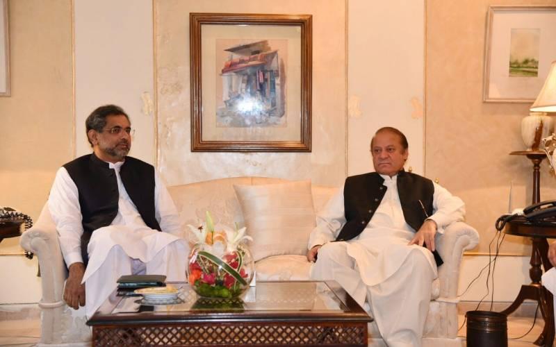PM Abbasi lands in London as Nawaz Sharif convenes party meeting