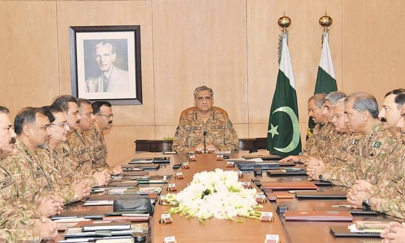 COAS Qamar Bajwa summons 'special' Corps Commanders' Conference today