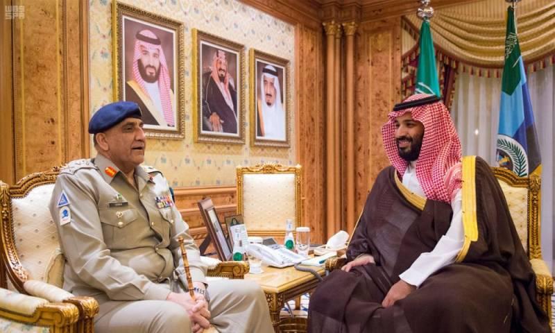 Gen Bajwa meets Saudi crown prince