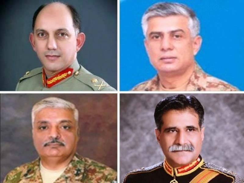 Four major generals promoted to rank of lieutenant general: ISPR