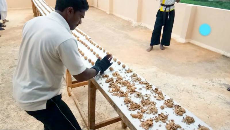 Indian man smashes Guinness World Record by crushing 212 walnuts in 1 minute