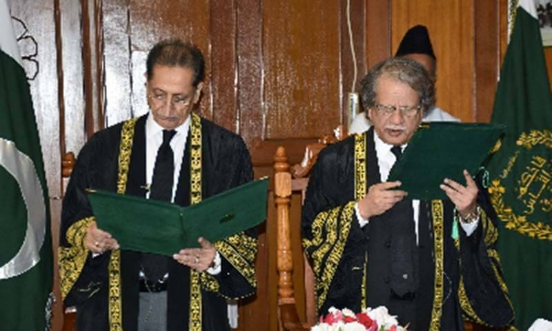 Justice Ejaz Afzal takes oath as acting CJP