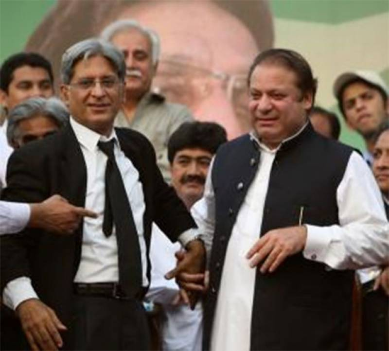 Aitzaz Ahsan seeks ECL embargo for Nawaz Sharif