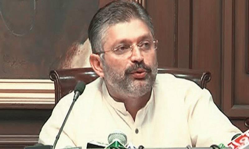 Under arrest Sharjeel Memon hits out at NAB over 'dual standards'