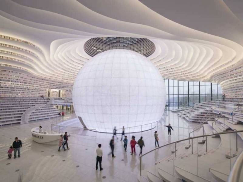 China opens new eye-shaped 1.2 million-book library